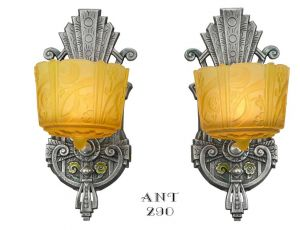 Pair of American Art Deco sconces by Lincoln (ANT-290)