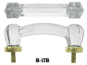 Victorian Style Clear Glass Bridge Handle (B-17B)