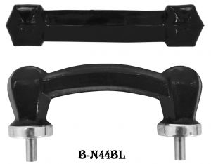 Black Glass Bridge Handle (B-44BL)
