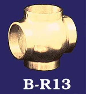 Vintage-Style-2-inch-Brass-Bar-Rail-Cross-Connection-(B-R13)