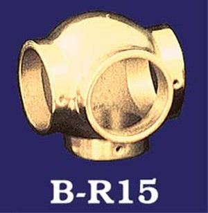 Classic Style Brass Ball Side Outlet For Bar Rails (B-R15)