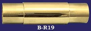 "Classic Brass Bar Rail 2"" OD Straight Joining Connector (B-R19)"
