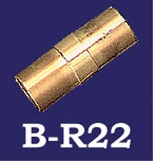 Brass Bar Rail Short Center Connector (B-R22)