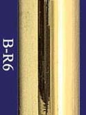 "Heavy Gauge Brass Bar Rail 6' - 2"" OD (B-R6)"