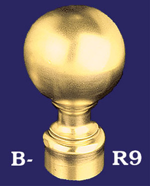 "Classic Ball Finial End for 2"" Bar Rail (B-R9)"