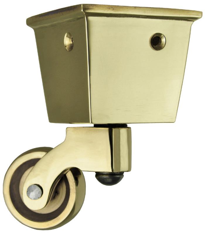 Vintage hardware lighting for 2 furniture casters