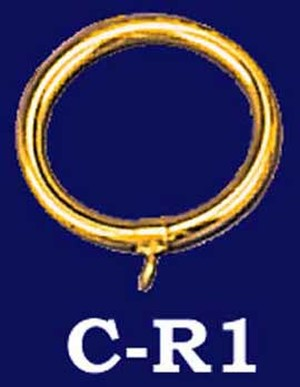 "Brass Curtain Ring 2.5"" Diameter (C-R1)"