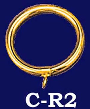 "Brass Curtain Ring 3"" Diameter (C-R2)"