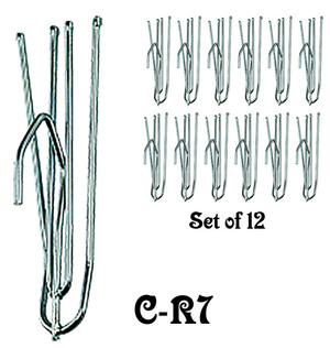 Slip In Steel Curtain Hook Set of 12 (C-R7)