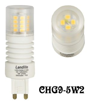 LED Bulb Mini Lamp G9 Base 5 Watt 2700K - Dimmable (CHG9-5W2)