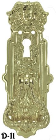 Victorian Wardrobe Door Pull With Keyhole (D-11)