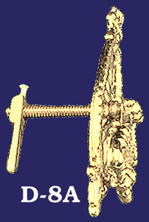 Pierced Brass Cupboard Latch & Drop Pull (D-8A)