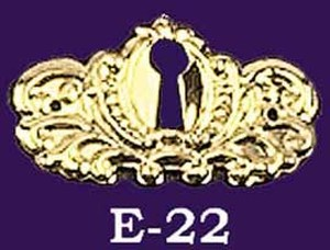 Victorian Stamped Small Keyhole (E-22)