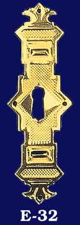 Eastlake Vertical Keyhole Escutcheon (E-32)