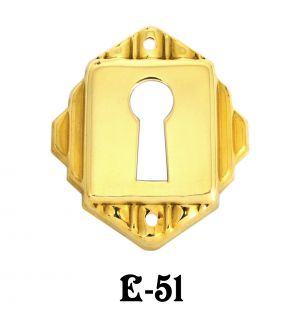 Art Deco Keyhole Escutcheon Cover (E-51)