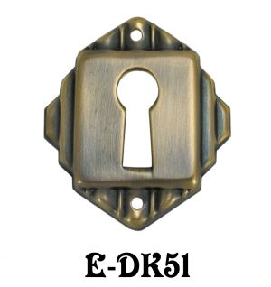 Art-Deco-Keyhole-Escutcheon-Cover-(E-51)
