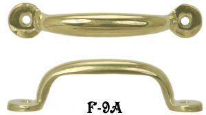 "File Cabinet Brass Handle Small Sash or Hoosier Pull 3"" Boring (F-9A)"
