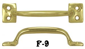 File Cabinet Brass Drawer Handle or Window Lift 4 1/4