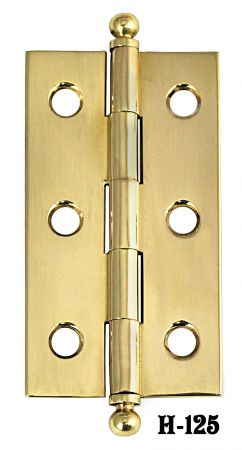 "2 1/2"" Long Extruded Ball Finial Hinges - Pair (H-125)"