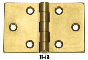 "Extruded Brass Pair of 1 1/2"" x 2 3/8"" Desk Lid/Door Hinges (H-13)"
