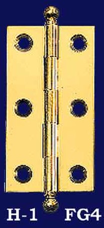 "3"" x 1 5/8"" Hinges with Ball Finials - Pair (H-1FG4)"