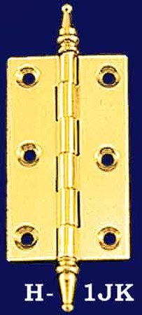 "2 1/2"" Wide Hinges with Steeple Finials - Choice Of Finish (H-1JK)"