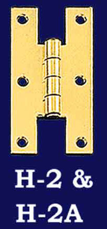 "Flush Mount ""H"" Hinge Pair (H-2)"