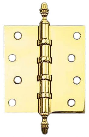 "3"" x 2 1/2"" Hinges with Acorn Finials (H-3025-A1F)"