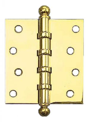 "3"" x 2 1/2"" Hinges with Ball Finials (H-3025-B2F)"
