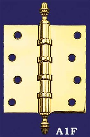 "3 1/2"" x 3"" Hinges with Acorn Finials (H-3530-A1F)"