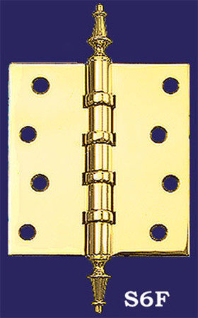 "3 1/2"" x 3 1/2"" Hinges with Steeple Finials (H-3535-S6F)"