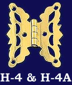 Pair of Flush Mount Butterfly Hinges (H-4)
