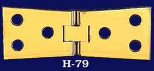 "Sewing Machine Hinges Pair 4"" x 1 1/2"" - Choice of Finish (H-79)"