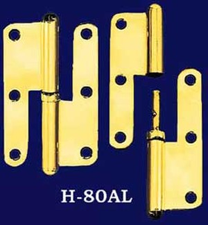Pair of Left Hand Lift Off Hinges (H-80AL)