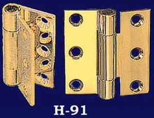 "2 1/4"" x 3/4"" Pair of Fully Swaged Hinges - Choice of Finish (H-91)"