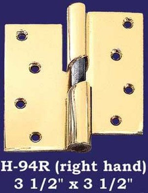 "Right Hand 3 1/2"" x 3 1/2"" Door Lift Hinges - Pair (H-94R)"