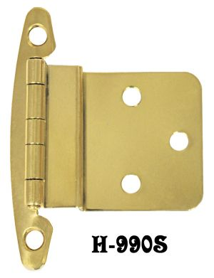 "Brass 3/8"" Offset Hinges Pair (H-99OS)"