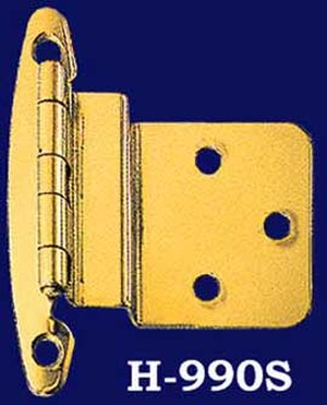 "Brass 3/8"" Offset Hinges, Pair - Choice of Finish (H-99OS)"