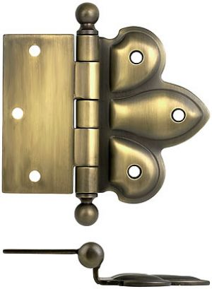 Recreated-Surface-Mount-Half-Mortise-Pair-of-Hinges-(H-180BT)