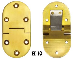Vintage Style Rounded Butler Tray Hinges - Pair (H-10)