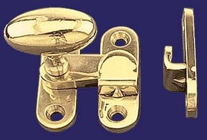 "3/8"" Offset Latch with Oval Knob (I-12B)"