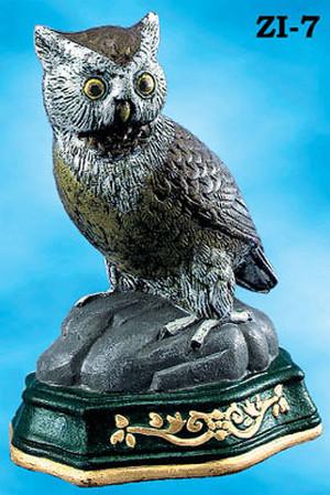 Vintage Hardware Amp Lighting Pair Of Cast Iron Owl