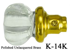 Small-Clear-Glass-Screen-Door-Knob---Hand-Pressed-Hexagon-Shape-Victorian-Style-(K-14K)