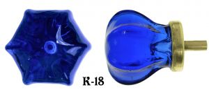 Victorian-Style-Blue-Glass-1.25-inch-Knob-(K-18)