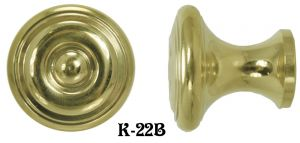 "Contemporary 1 1/4"" Diameter Knob - Choice Of Finish (K-22B)"