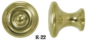 "Contemporary 1"" Diameter Knob - Choice Of Finish (K-22)"