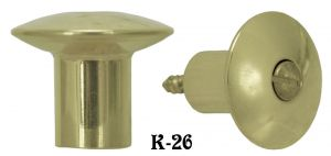 Hoosier Cabinet Knob Recreated with Center Screw (K-26)