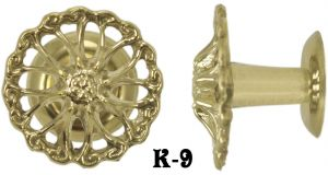 Ribbon Design Brass Knob (K-9)