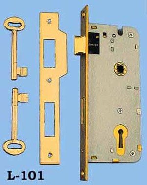"Recreated Reversible R&E 1 5/8"" Backset Lock 2 3/4"" Center To Center (L-101)"