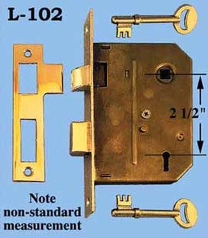 "Recreated R&E Compatible 2 1/4"" Backset Non Standard 2 1/2""cc (L-102)"